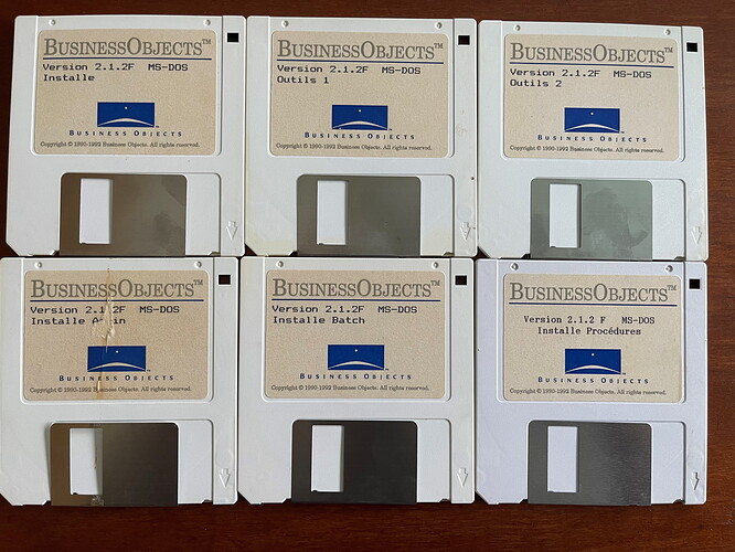 Disk Business Objects 2.1.2F